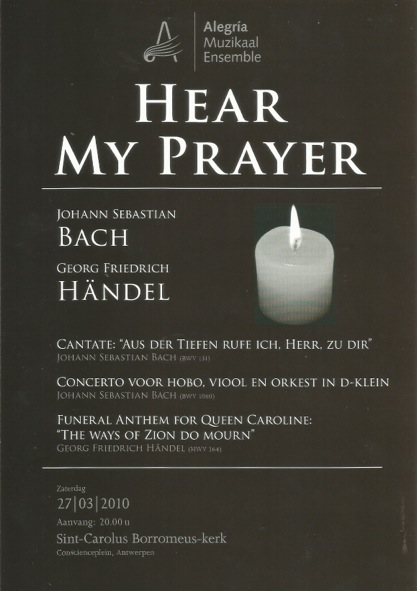 Affiche van het concert Hear My Prayer